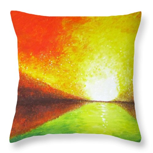 Landscape Throw Pillow featuring the painting Peace by Jean Tatton Jones
