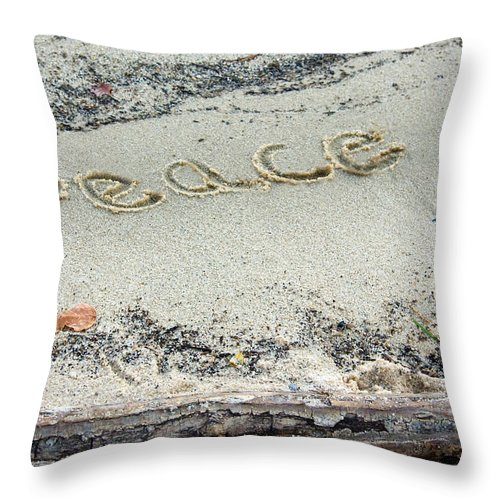 Peace On Earth Throw Pillow featuring the photograph Peace On Earth by Melinda Fawver