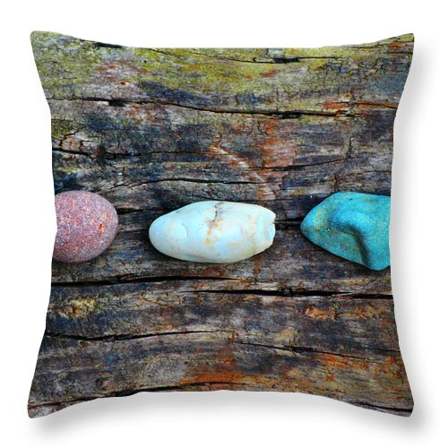 Rock Formation Throw Pillow featuring the photograph Peace Relax Calm by Chastity Hoff