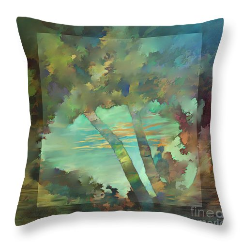 Ursula Freer Throw Pillow featuring the digital art Peaceful Dawn by Ursula Freer