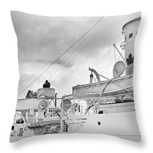 Boat Throw Pillow featuring the photograph Peaceful by Betsy Knapp