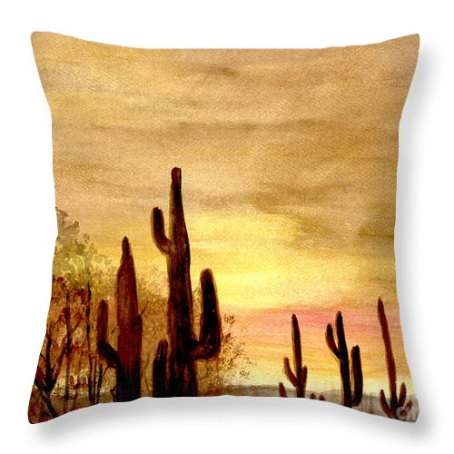 Desert Throw Pillow featuring the photograph Peaceful by Flamingo Graphix John Ellis