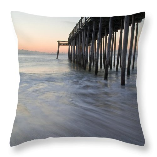Ocean Throw Pillow featuring the photograph Peaceful Ocean Sunrise by Benjamin Reed