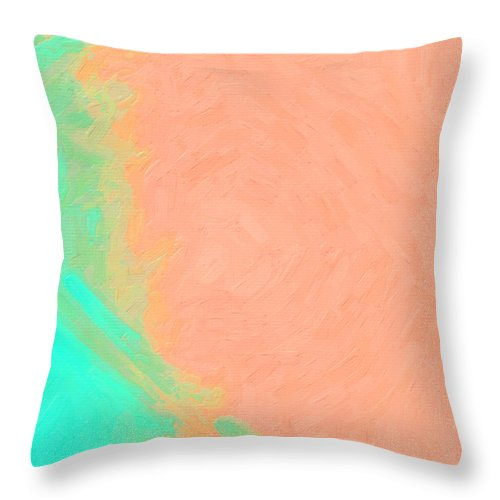 Peach Throw Pillow featuring the digital art Peachy Lime by Dee Flouton