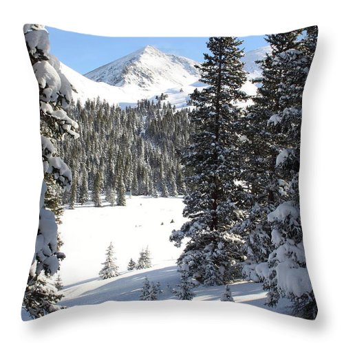Colorado Throw Pillow featuring the photograph Peak Peek by Eric Glaser