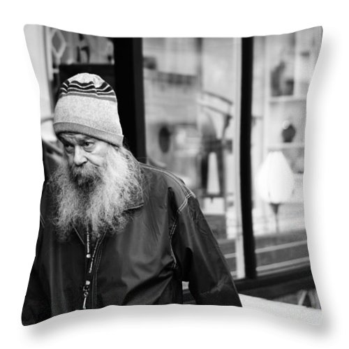 Vancouver Throw Pillow featuring the photograph Peaking Lounging by The Artist Project