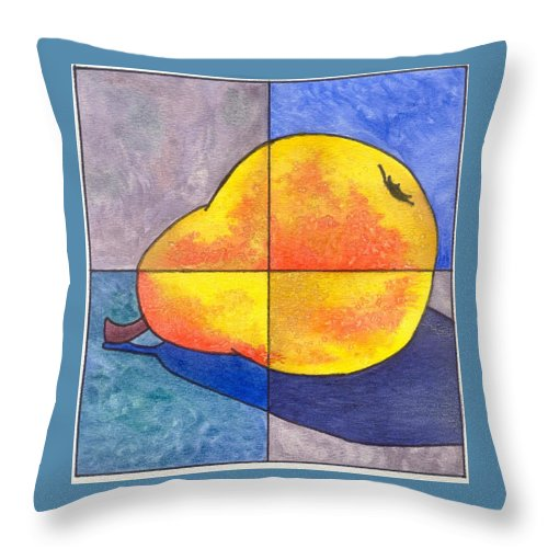 Pear Throw Pillow featuring the painting Pear I by Micah Guenther