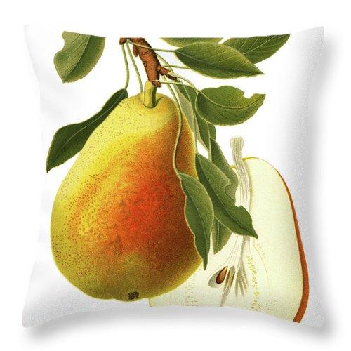 Art Throw Pillow featuring the digital art Pear by Ivan-96