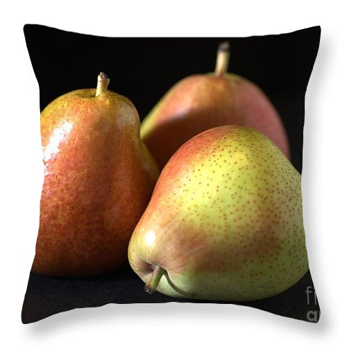 Pear Throw Pillow featuring the photograph Pears by Joy Watson