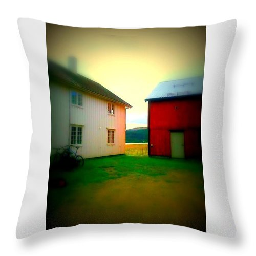 Norway Throw Pillow featuring the photograph Coming Home To The Peasants' Place by Hilde Widerberg