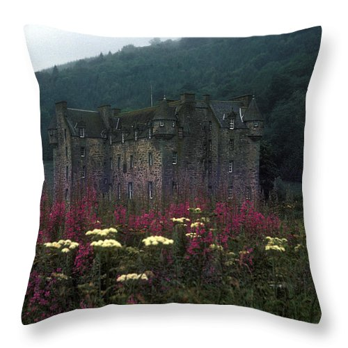 Castle Menzies Throw Pillow featuring the photograph Castle Menzies  by Bruce Blanchard