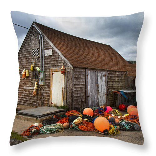 Peggy's Throw Pillow featuring the photograph Peggy's Cove 15 by Betsy Knapp