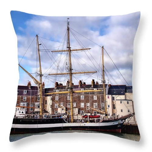 Pelican-of-london Throw Pillow featuring the photograph Pelican Of London by Susie Peek