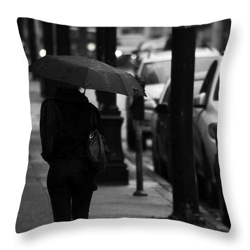 Street Photography Throw Pillow featuring the photograph Pelted By Afternoon by The Artist Project