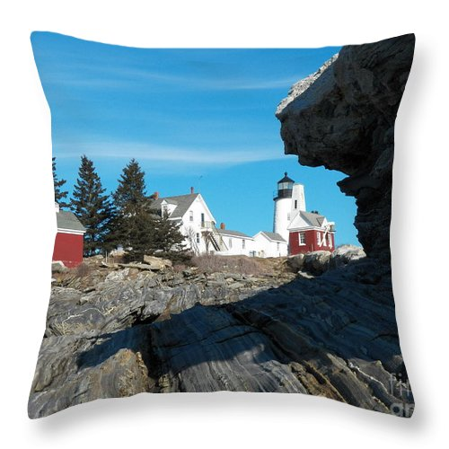 Pemaquid Point Throw Pillow featuring the photograph Pemaquid Point 22 by Joseph Marquis