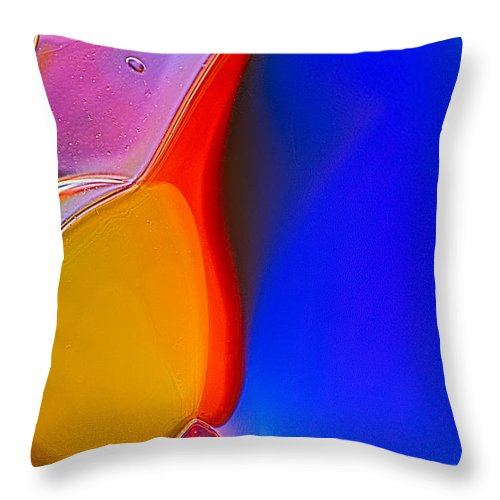 Abstract Throw Pillow featuring the photograph Penguins by Omaste Witkowski