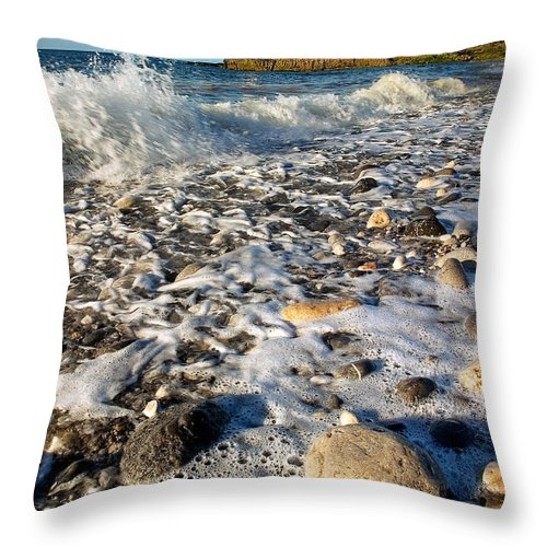 Wales Throw Pillow featuring the photograph Penmon Isle Of Anglesey by Peter OReilly