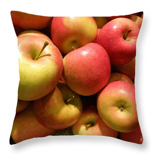 Apples Throw Pillow featuring the photograph Pennsylvania Apples by Jean Hall