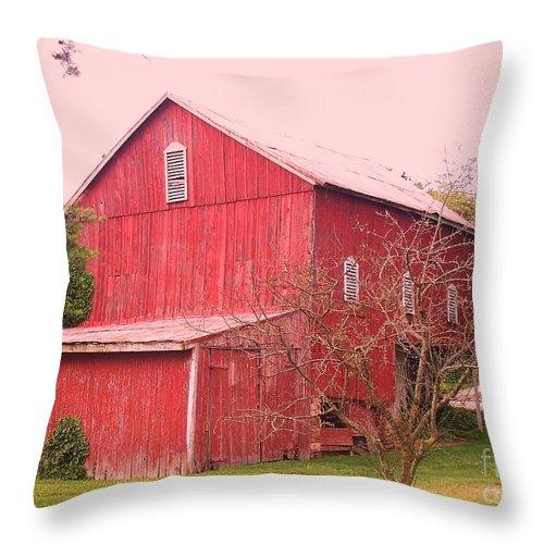 Pennsylvania Throw Pillow featuring the photograph Pennsylvania Barn Cira 1700 by Eric Schiabor