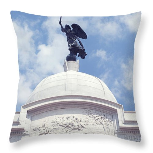Civil War Throw Pillow featuring the photograph Pennsylvania Monument - Gettysburg by Paul W Faust - Impressions of Light