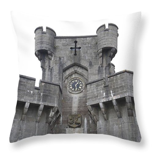 Castles Throw Pillow featuring the photograph Penrhyn Castle 2 by Christopher Rowlands