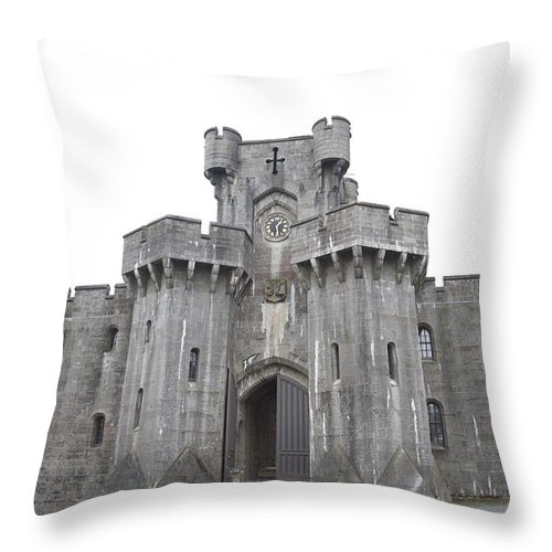 Castles Throw Pillow featuring the photograph Penrhyn Castle 3 by Christopher Rowlands