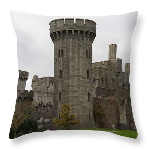 Castles Throw Pillow featuring the photograph Penrhyn Castle 4 by Christopher Rowlands