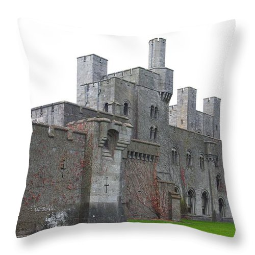 Castles Throw Pillow featuring the photograph Penrhyn Castle 5 by Christopher Rowlands