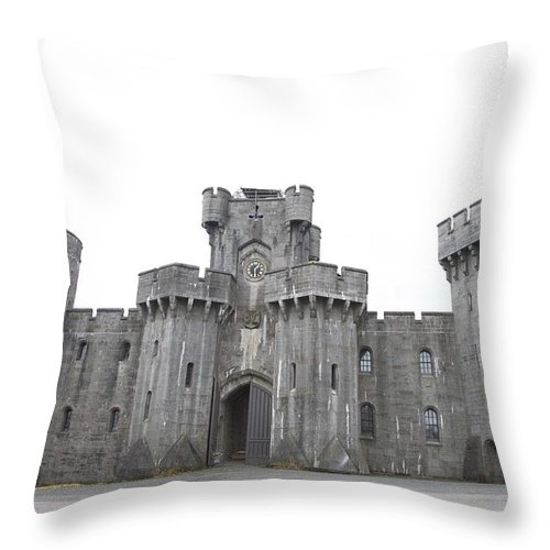 Castles Throw Pillow featuring the photograph Penrhyn Castle by Christopher Rowlands