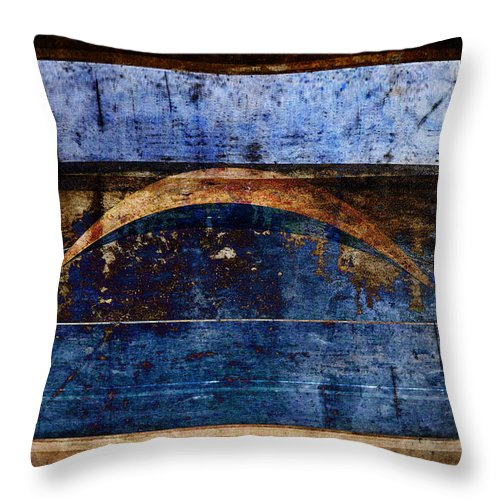 Abstract Throw Pillow featuring the photograph Penumbra by Carol Leigh