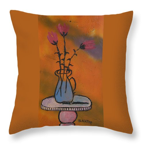 Floral Throw Pillow featuring the painting Peonies by Ken Blacktop Gentle