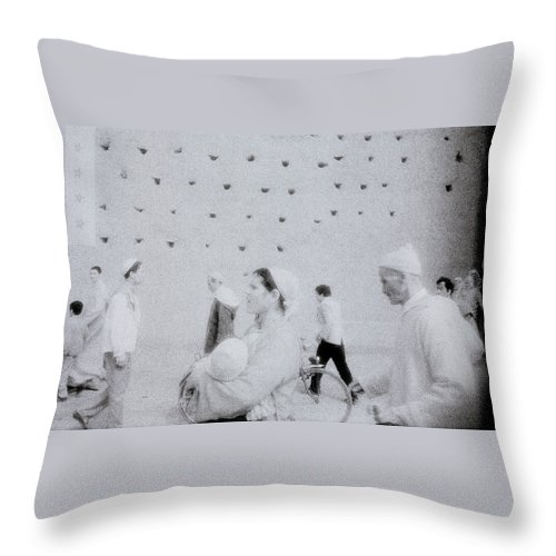 Surreal Throw Pillow featuring the photograph People In A Dream by Shaun Higson