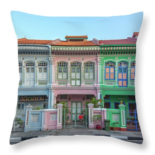 Tranquility Throw Pillow featuring the photograph Peranakan Architecture by Edward Tian