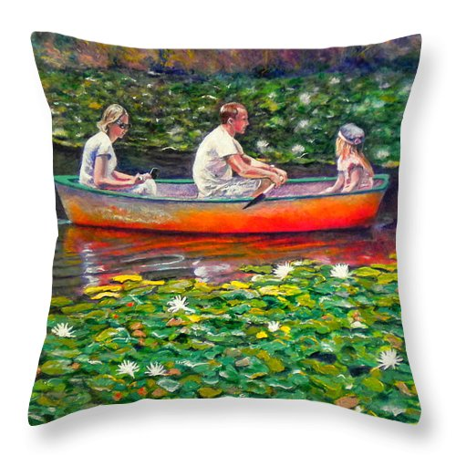 Water Lily Throw Pillow featuring the painting Perfect Afternoon by Michael Durst