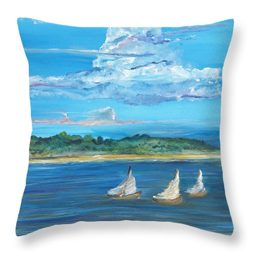 Island Throw Pillow featuring the painting Perfection by Bev Veals