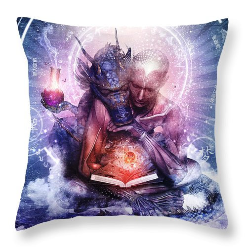 Spiritual Throw Pillow featuring the digital art Perhaps The Dreams Are Of Soulmates by Cameron Gray