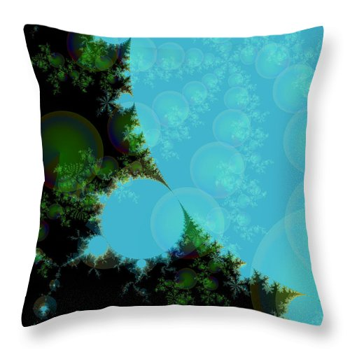Fractal Art Throw Pillow featuring the digital art Perspective In The Forest by Elizabeth McTaggart
