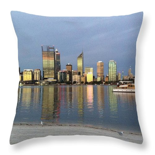 Perth Throw Pillow featuring the photograph Perth By Sunset by Penny Ogrady