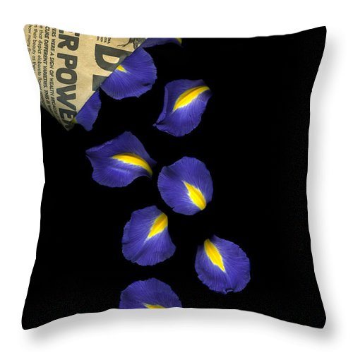 Scanography Throw Pillow featuring the photograph Petal Chips by Christian Slanec