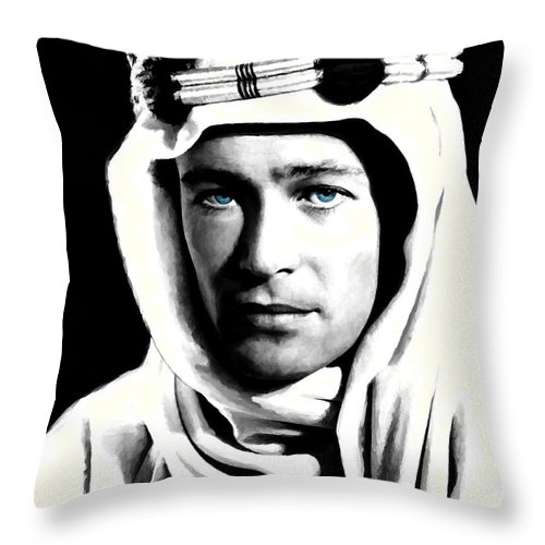 Peter O'toole Throw Pillow featuring the digital art Peter O'Toole Portrait by Gabriel T Toro