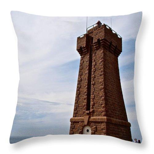 France Throw Pillow featuring the photograph Phare De Ploumanac'h by Eric Tressler