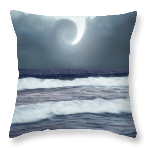 Sky Throw Pillow featuring the photograph Phenomenon Above The Sea by Kellice Swaggerty