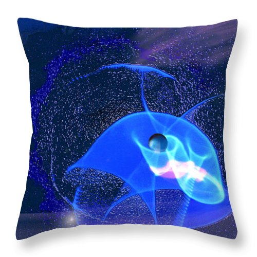 Space Throw Pillow featuring the digital art Phenomenon II by Steve Karol