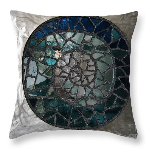 America Throw Pillow featuring the photograph Philadelphia Bus Shelter Glass by Coventry Wildeheart