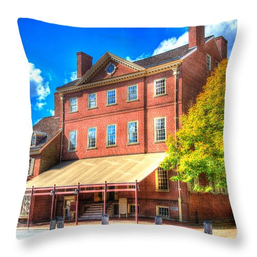 Philadelphia Throw Pillow featuring the photograph Philadelphia City Tavern by Constantin Raducan