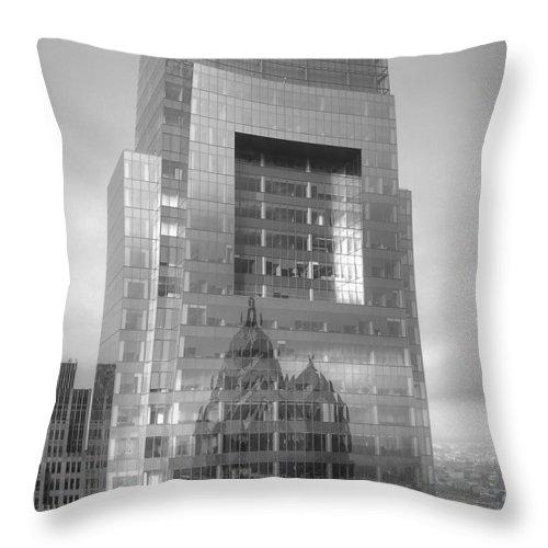 Philadelphia Throw Pillow featuring the photograph Philadelphia Comcast Building by Constantin Raducan