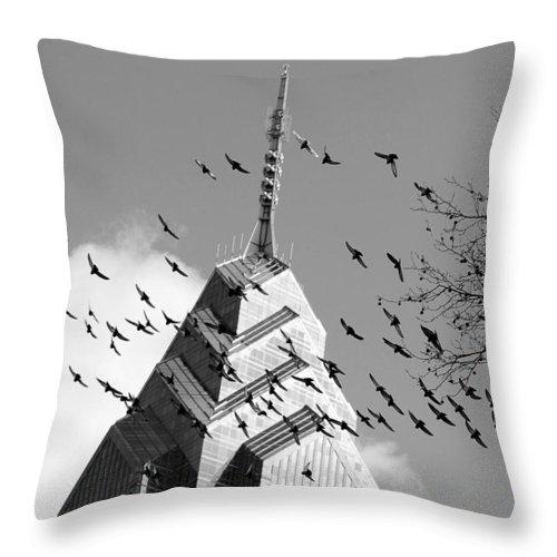 Philadelphia Throw Pillow featuring the photograph Philadelphia Liberty Place by Constantin Raducan