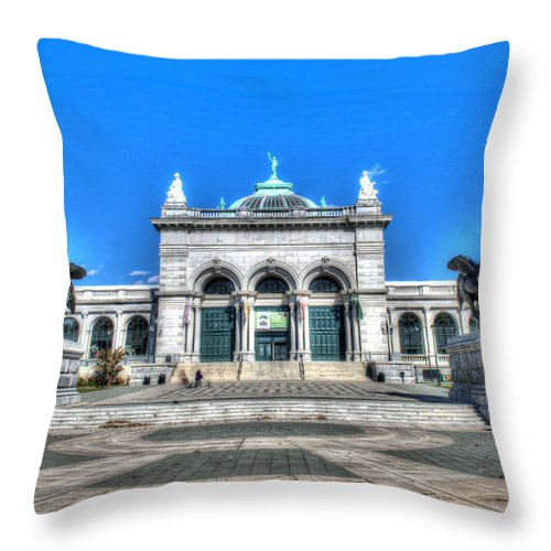 Philadelphia Throw Pillow featuring the photograph Philadelphia Memorial Hall Please Touch Museum by Constantin Raducan