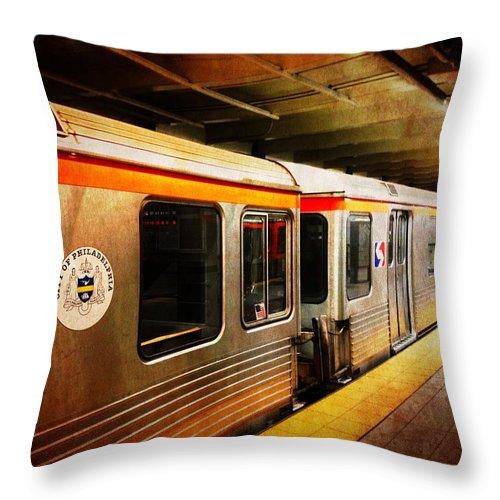 Philadelphia Throw Pillow featuring the photograph Philadelphia - Waiting Train by Richard Reeve