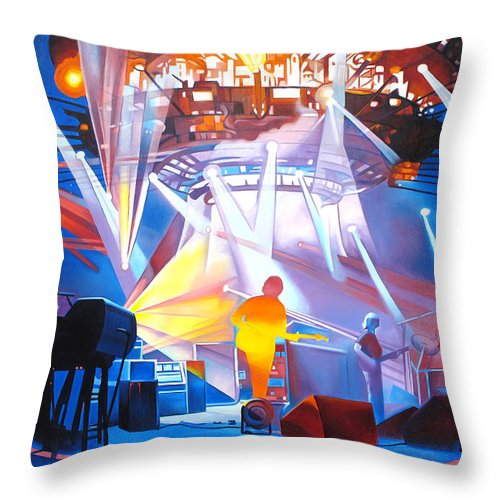 Phish Throw Pillow featuring the painting Phish-In Deep Space by Joshua Morton